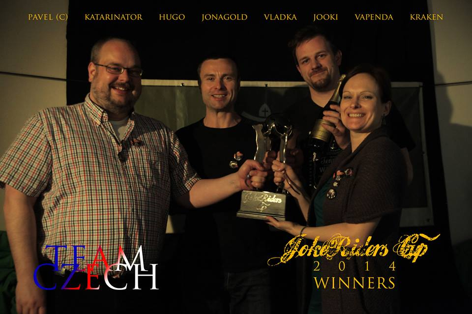 Winners of JokeRiders Cup 2014 - Czech Team